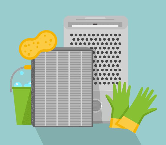 how to clean a dehumidifier filter