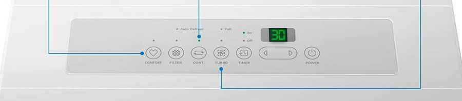 hOmeLabs 70 Pint controls