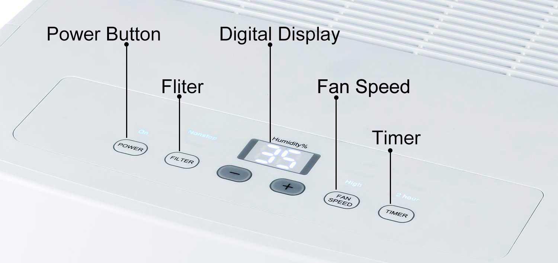 Tosot 70 Pint Dehumidifier Control Panel